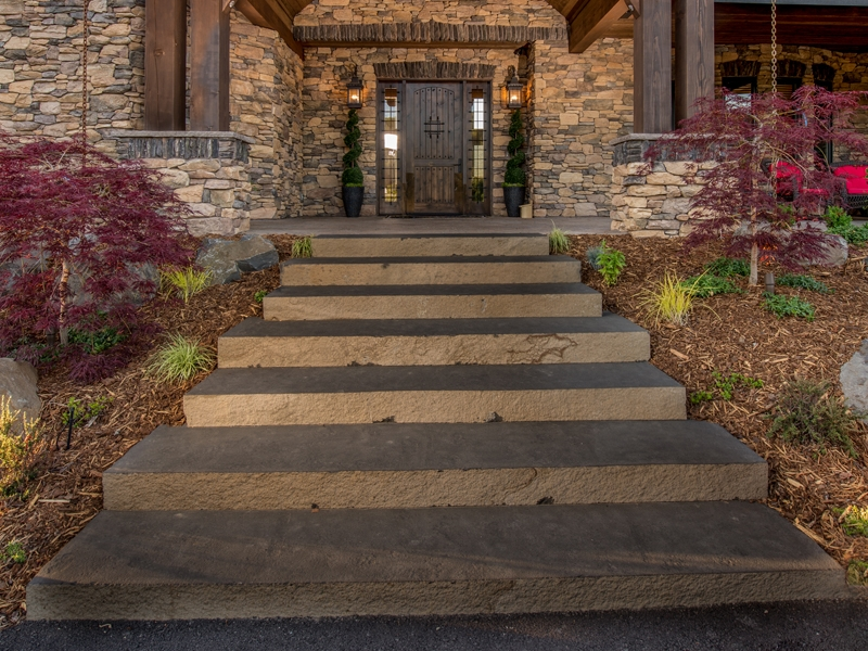 10 natural face basalt stairs