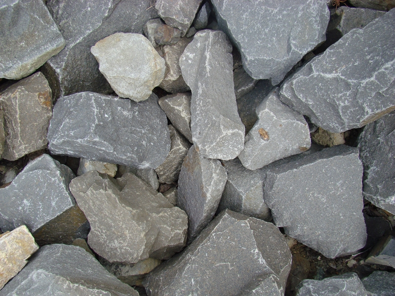 4 to 8 inch basalt rubble