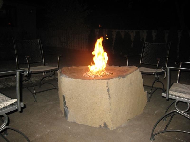 Basalt bowl fire rock