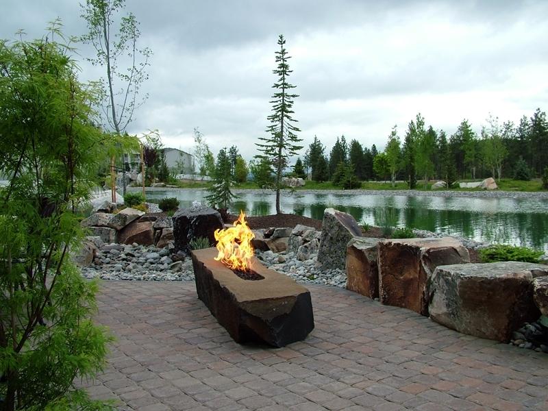Basalt column fire rock