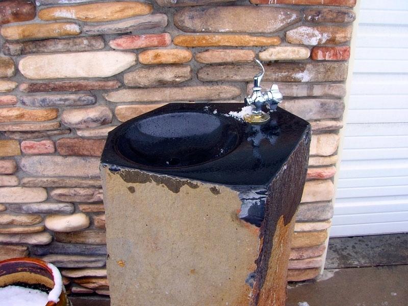 Basalt drinking fountain
