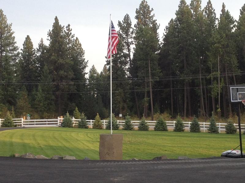 Basalt flag pole base 2