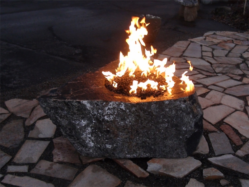 Black magic fire rock
