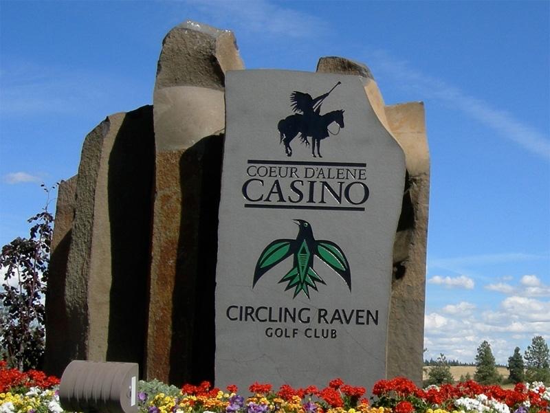 Coeur dAlene Casino sign