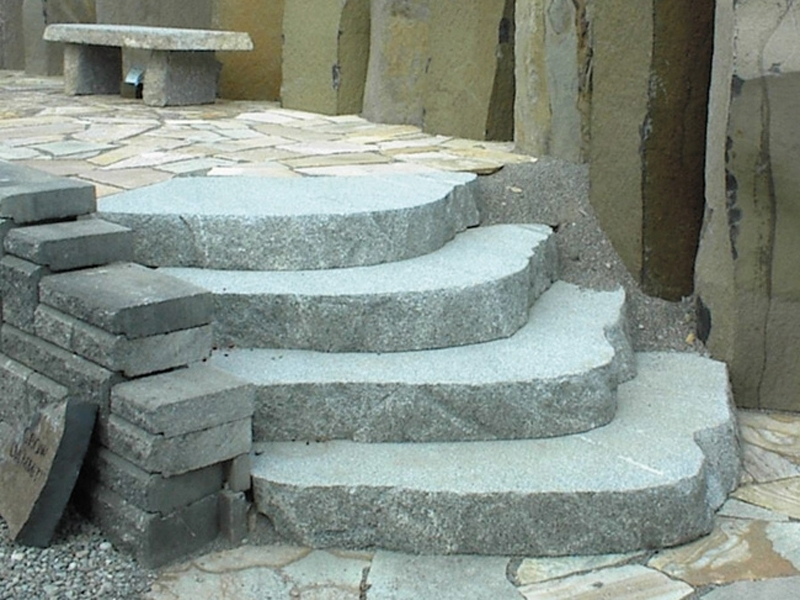 Custom loaf cut granite stairs
