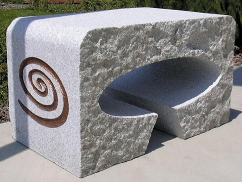 Granite continuous cut bench