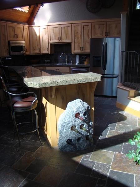 Granite wine rack