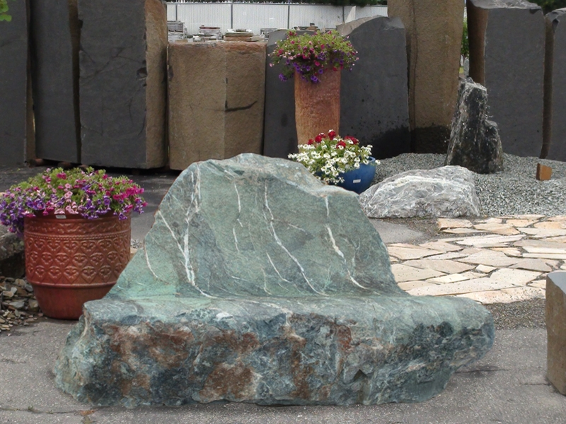 Green mountain marble bench