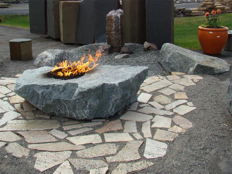 Green MT marble fire rock