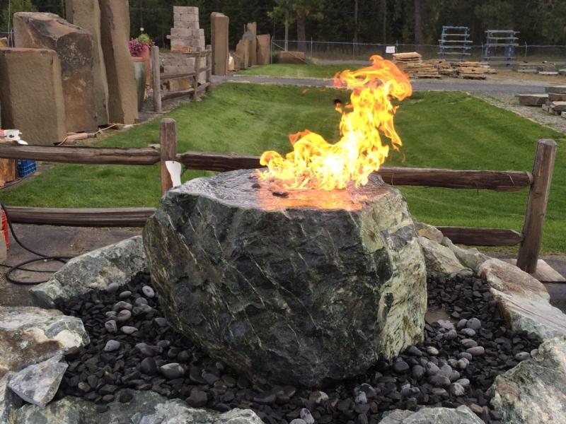Green MT marble fire rock fountain
