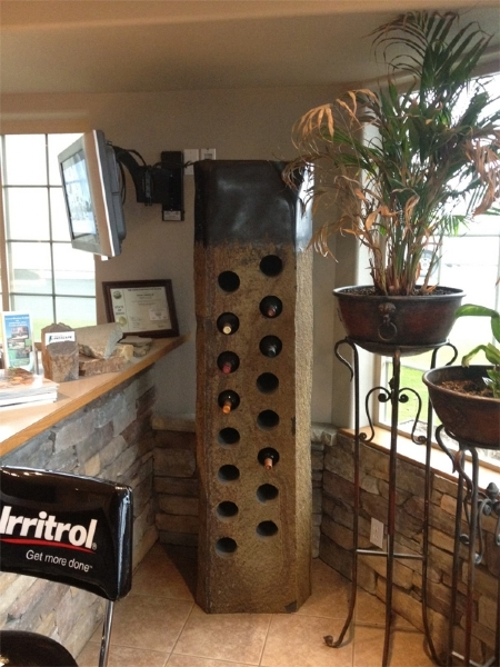 Large basalt wine rack