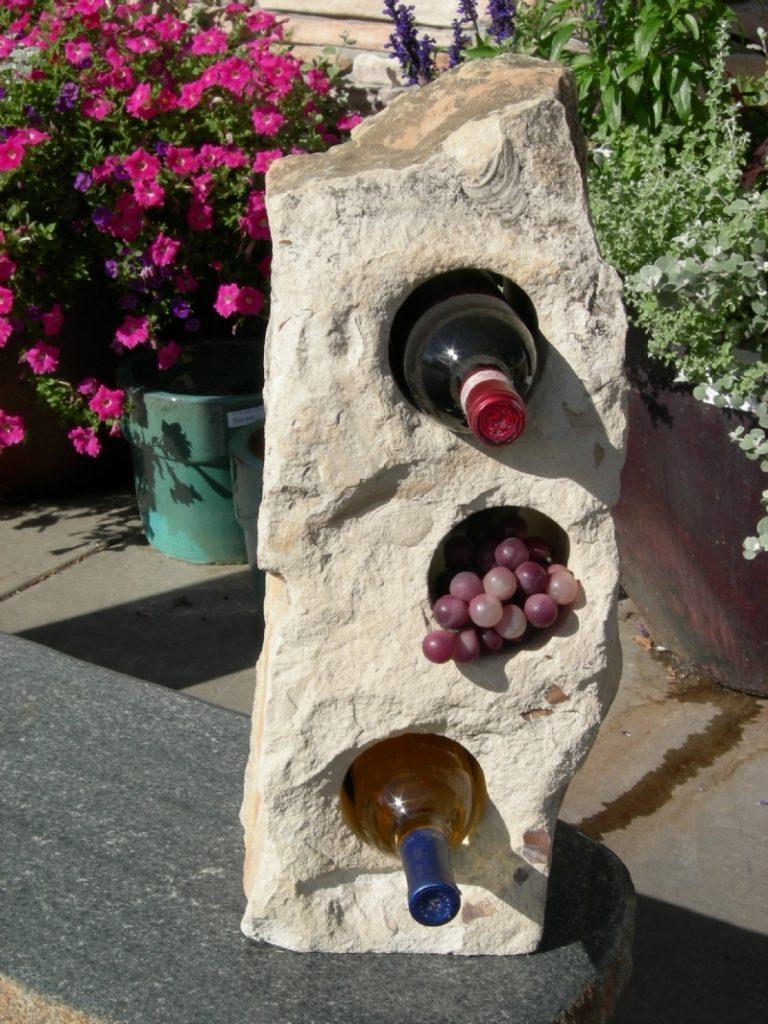 Limestone wine rack