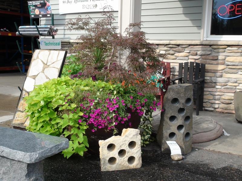 Limestone and basalt wine racks