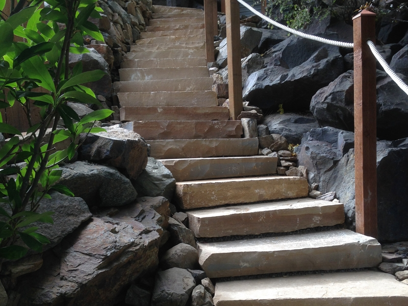 MT gold stairs