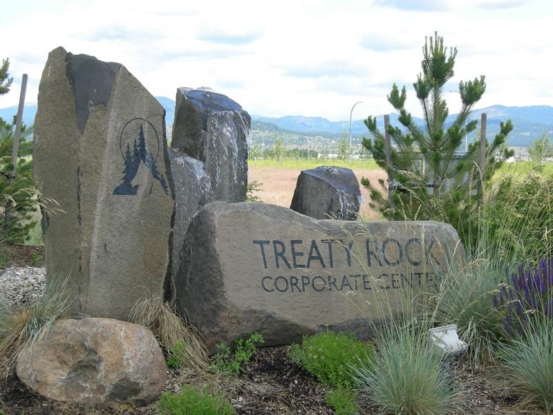 Treaty Rock sign