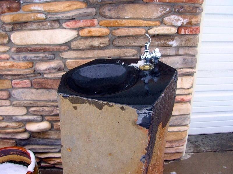 Basalt drinking fountain