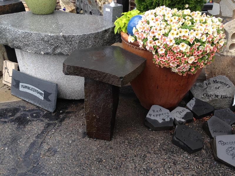 Basalt end table