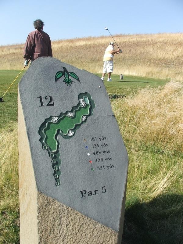 Stone golf marker