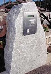 Granite keypad entry