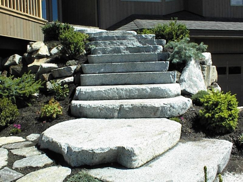 Granite loaf cut stairs