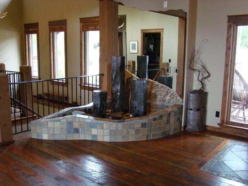 Indoor basalt even flows