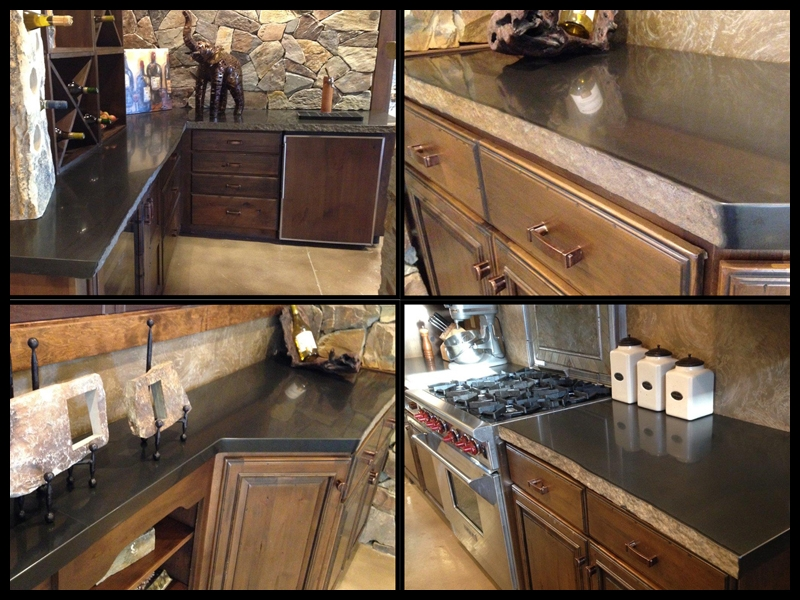 Polished basalt countertops