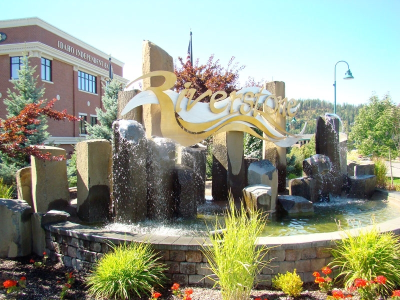Riverstone Development entry fountains - CDA, Idaho