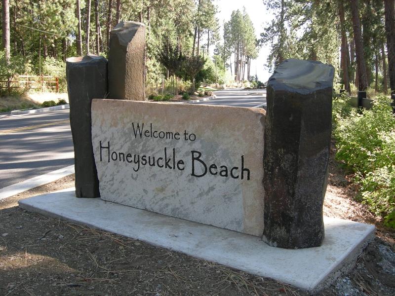 Honeysuckle Beach Sign