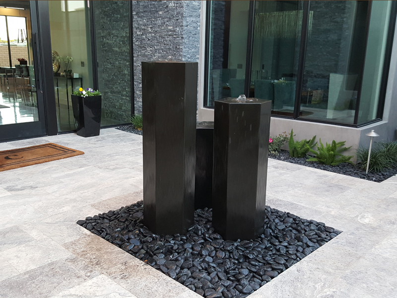 All Polished Basalt Fountains