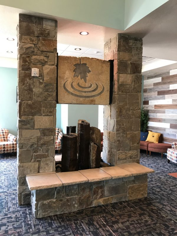 Indoor Maple Springs Sign With Fountains